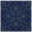 rug #981805 | square blue-green damask rug