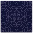 rug #981853 | square blue-violet damask rug
