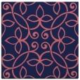 rug #981861 | square blue-violet damask rug