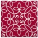 rug #981885 | square red traditional rug
