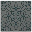 rug #981897 | square green damask rug