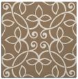 rug #981917 | square mid-brown damask rug