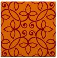rug #981965 | square red-orange traditional rug