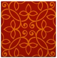 rug #982017 | square red traditional rug