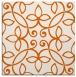 rug #982041 | square red-orange rug