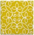 rug #982081 | square yellow damask rug