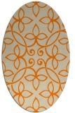 rug #982125   oval beige traditional rug