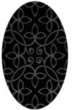 rug #982133 | oval black traditional rug