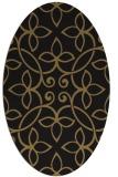 rug #982153 | oval mid-brown natural rug