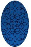 rug #982157 | oval blue damask rug