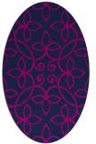rug #982161 | oval blue damask rug