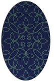 rug #982165 | oval blue damask rug