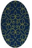 rug #982169 | oval green traditional rug