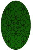 rug #982185 | oval green traditional rug