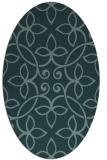 rug #982204 | oval damask rug
