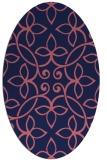 rug #982221 | oval blue-violet traditional rug
