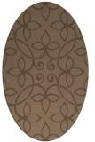 rug #982236 | oval traditional rug
