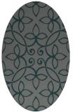 rug #982257 | oval green traditional rug