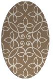 rug #982277 | oval beige traditional rug