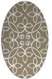 rug #982281 | oval mid-brown natural rug