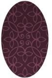 rug #982288 | oval damask rug