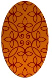 rug #982325 | oval orange natural rug