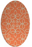 rug #982333 | oval beige natural rug