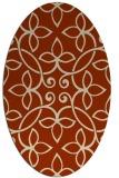 rug #982335 | oval traditional rug