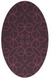 rug #982357   oval purple natural rug