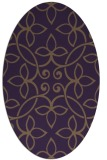 rug #982365 | oval mid-brown natural rug
