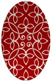 rug #982373 | oval red damask rug