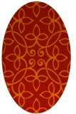 rug #982377 | oval red traditional rug