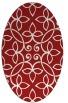 rug #982381 | oval red rug