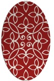 rug #982381 | oval red traditional rug