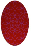 rug #982385 | oval red natural rug