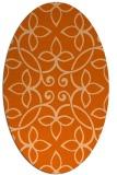 rug #982393 | oval red-orange rug