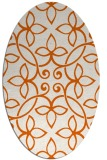 rug #982401 | oval red-orange damask rug