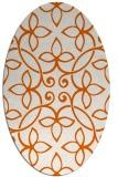 rug #982401 | oval damask rug