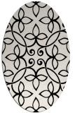 rug #982405   oval white traditional rug