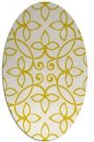 rug #982409 | oval white damask rug