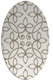 rug #982425 | oval white traditional rug