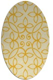 rug #982429 | oval yellow natural rug