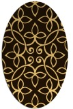 rug #982440 | oval traditional rug