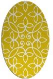 rug #982441 | oval yellow natural rug