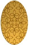rug #982445 | oval light-orange traditional rug
