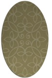 rug #982457 | oval light-green rug