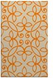 rug #982485 |  orange damask rug