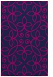 rug #982521 |  blue damask rug