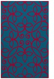 rug #982609 |  blue-green traditional rug