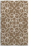 rug #982637 |  mid-brown damask rug